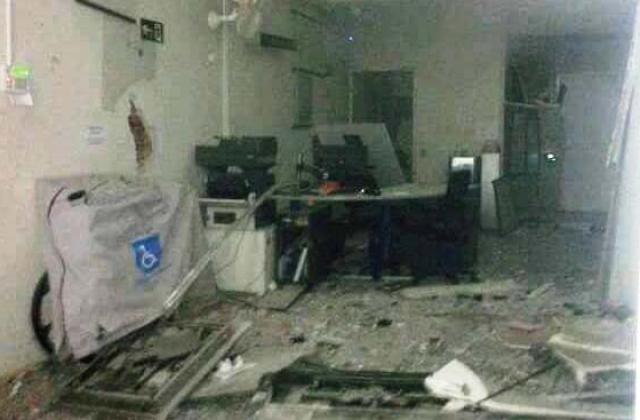 Criminosos explodem agência bancária em Rubelita